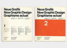 (Left) No.1 Design by Carlo Vivarelli (Right) No.2 Design by Hans Neuburg #graphic design #cover