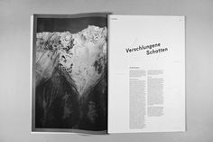 ÜBERSCHATTEN — DIPLOMARBEIT - Sebastian Schichel #white #fugue #black #spread #and #editorial #magazine #typography