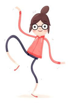 This is how she dances spaghetti style! #human #illustration #character #girl
