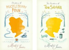 Design Work Life » cataloging inspiration daily #mark #twain #book #cover #illustration