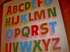 Dads Paper Signs — Gothic Alphabet