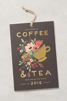 Coffee & Tea 2016 Calendar
