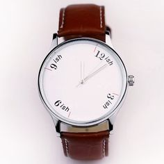 ish watch by hyphen #minimal #leather #watch