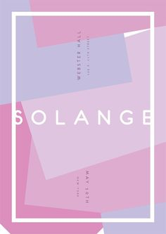 Solange, Webster Hall #solange #beyonce #webster hall #gig #poster #may
