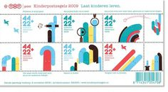 Children's Stamps / TNT Post - Part of a Bigger Plan #design #graphic