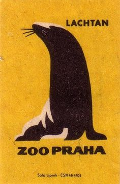Oliver Tomas | Text Proportion Utility » Blog Archive » Animal illustrations from the Prague Zoo (1963) #yellow #color #seal #illustration #vintage