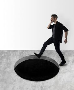 Scott Jarvie Created an Optical Illusion Void Rug - InteriorZine #floor #rugs #carpets #productdesign #design #graphics