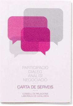 Txell Grà cia / Consell de Relacions Laborals de Catalunya #design #graphic #poster #brochure #typography