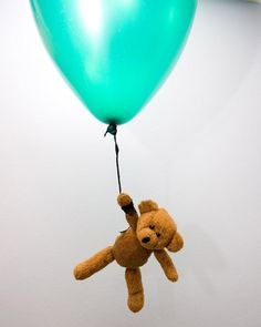 teddy bear flying balloon by ~doko-stock on deviantART #bear #balloon