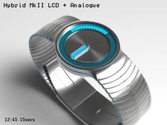Hybrid MKII Watch #design #futuristic #gadget #industrial #concept #art