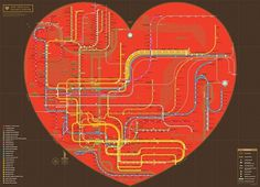ZEROPERZERO #heart #nyc #map #subway