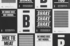 Freytag Anderson's bold, confident and minimalist identity for a no-nonsense BURGER | Creative Boom