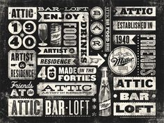 Attic Bar Loft / ID by Masif #design #quality #typography