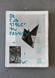 Deconstructing Fashion Newspaper #layout #newspaper #typography