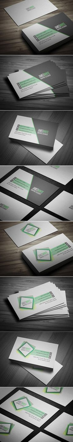 Simple Business Card 2 Versions #card #business