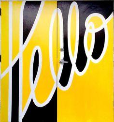 Hello @ lookthinkmake - Elle Tse #script #yellow #custom #type #typography