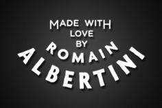 Personal rebranding romain albertini #albertini #romain #seal #brand #vintage #logo #typography