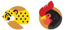 NIKE Animal Badges Always With Honor #design #illustration #logos #icon