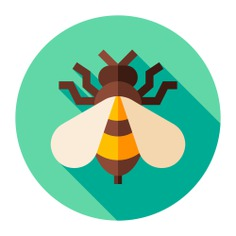 See more icon inspiration related to bee, insect, animal kingdom, wings, fly, nature, animals and animal on Flaticon.