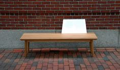 SOLO BENCH - SARAH PEASE DESIGN #white #bench #wood #furniture #metal