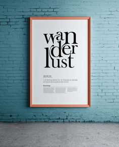 integration of letters into each other with glyphs #print #typography #poster #ligature #wanderlust