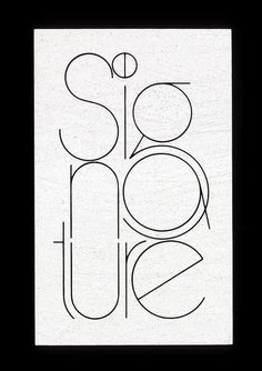 Signature logo | Flickr - Photo Sharing! #logo #lubalin #center #typography