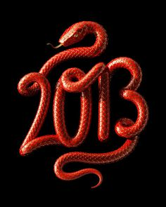 Typeverything.com Year of the Snake Art Print by David McLeod. #2013 #snake