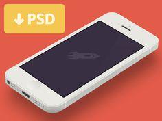 Minimal iPhone 5 Template [PSD] #flat #devices #psd #design #iphone #5