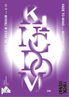Kingdom #slugs #mind #fade #night #la #concept #poster #purple #music #to #beats #typography