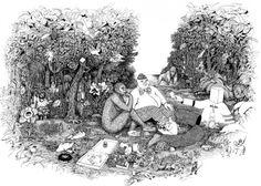 Breakfast in the Garden / Frühstück im Garten #illustration #julia #bruderer
