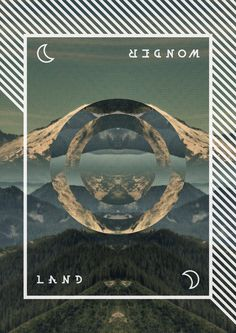 Wonder Land #mountain #vector #geometry #print #landscape #nature #circle #forest
