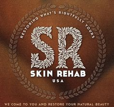 Logo_Design_by_David_Brier SKIN_REHAB_USA #botanical #lettering #design #logo #typography