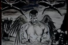 Illustration work #white #just #graphite #big #horror #demons #black #devil #jack #art #dark