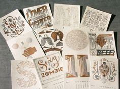 2011 Studio On Fire Letterpress Calendar | Studio On Fire #illustration #typography