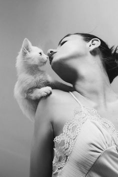 #cat #woman #photo