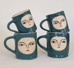 by kinska, via Flickr #face #ceramic #cup