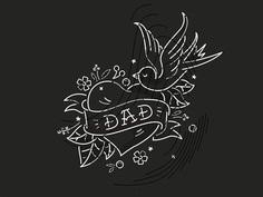 Dad dribbble