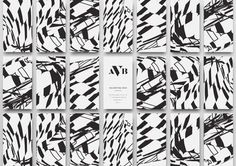 Business cards with abstract patterns on the back. #pp