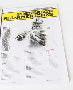 Designed 3 illustrations for the ESPN College Football Preview 2015