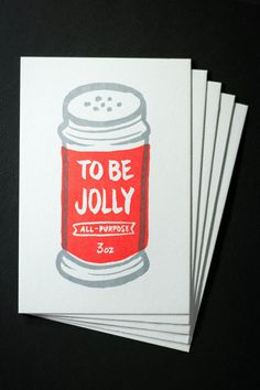 Jolly Postcards #jolly #letterpress #christmas #illustration #holiday #season #postcard #cards #typography