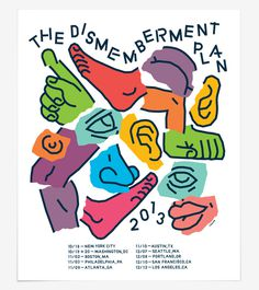 THE DISMEMBERMENT PLAN Trademark™ #illustration #poster