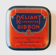 Vintage Packaging: Typewriter Tins - TheDieline.com - Package Design Blog #packaging #ribbon #typewriter #typography