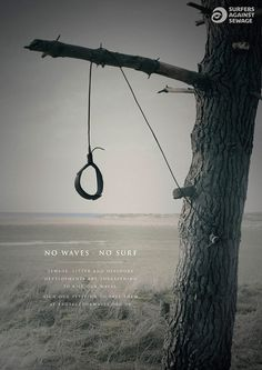 sas protect our waves leash noose 660 #surf #photo #poster