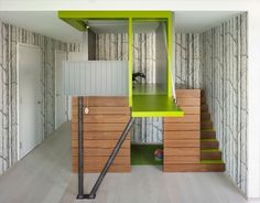 Kids play house modern style #interior #painting #art #kids #apartment #room