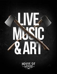 HOUSE OF VANS (Poster Series) on Behance #regtertg