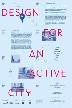 Design for an Active City | COÖP #poster