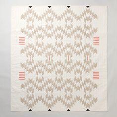 Meg Callahan Flax Quilt contemporary-quilts #quilt