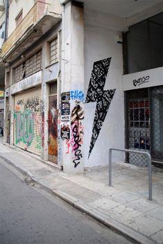 BLAQK #calligraphy #geometry #street art #lines #2012 #greg papagrigoriou #blaqk #simek