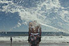 Frank. #ocean #pattern #water #portrait #chain #frank #gold #splash #beach
