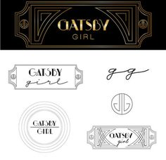 West end girl #gatsby #design #1920s #vintage #art #deco #logo